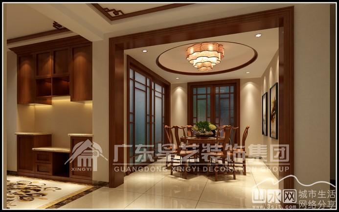 美丽华公寓143平方中式风格 效果图